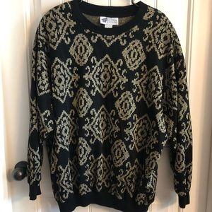 Vintage TopNotch Black and Gold Sweater 3X